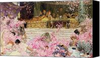 Alma-tadema; Sir Lawrence (1836-1912) Canvas Prints - Study for The Roses of Heliogabulus Canvas Print by Sir Lawrence Alma-Tadema