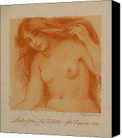 Nude Canvas Prints - Study from La Toilette after Renoir Canvas Print by Gary Kaemmer