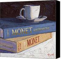 Book Canvas Prints - Studying Monet Canvas Print by Christopher Mize