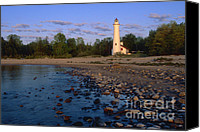 Aid Canvas Prints - Sturgeon Point Lighthouse - FS000119 Canvas Print by Daniel Dempster