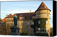 Architecture Photo Canvas Prints - Stuttgart Altes Schloss Old castle - Germany Canvas Print by Matthias Hauser