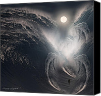 Ocean Digital Art Canvas Prints - Subconscious Canvas Print by Lourry Legarde