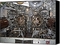 Dial Photo Canvas Prints - Submarine Torpedo Room - Pearl Harbor Canvas Print by Daniel Hagerman