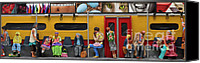 Black Woman Canvas Prints - Subway - Lonely Travellers Canvas Print by Anne Klar