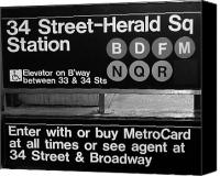 Herald Canvas Prints - Subway 34 Street Canvas Print by Debbi Granruth