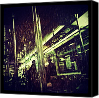 Rain Canvas Prints - Subway Rain Canvas Print by Natasha Marco