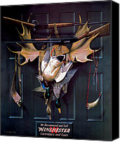 Waterfowl Canvas Prints - Successful Hunter  Door Art Canvas Print by Alexander Pope