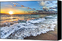 Florida Bridge Canvas Prints - Sudsy Canvas Print by Debra and Dave Vanderlaan