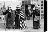 Demonstration Photo Canvas Prints - SUFFRAGETTES, c1910 Canvas Print by Granger