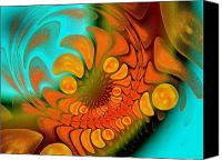 Fine Art Fractal Art Canvas Prints - Sugar Coat It Canvas Print by Andee Photography