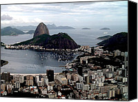 America Pyrography Canvas Prints - Sugarloaf Mountain Brasil Canvas Print by Salty Elbows