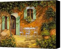 Table Canvas Prints - Sul Patio Canvas Print by Guido Borelli