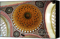 Byzantine Photo Canvas Prints - Sulemaniye Mosque Dome Canvas Print by Dean Harte