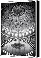 Byzantine Canvas Prints - Suleymaniye Ceiling Canvas Print by John Rizzuto