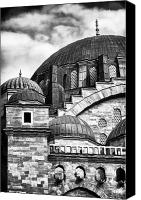 Byzantine Canvas Prints - Suleymaniye Domes Canvas Print by John Rizzuto