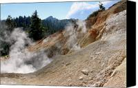 Northern California Canvas Prints - Sulfur Works in Lassen Volcanic Park Canvas Print by Christine Till