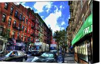 Nyc Fire Escapes Canvas Prints - Sullivan Street in Greenwich Village Canvas Print by Randy Aveille