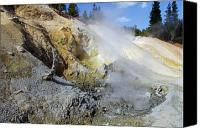 Northern California Canvas Prints - Sulphur Works - Lassen Volcanic National Park Canvas Print by Christine Till