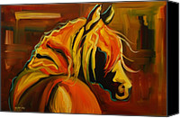 Abstract Equine Canvas Prints - Sultry Equine Canvas Print by Diane Whitehead