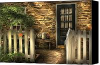 Gardener Canvas Prints - Summer - Cottage - Cottage Side Door Canvas Print by Mike Savad