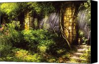 Ruins Canvas Prints - Summer - I found the lost temple  Canvas Print by Mike Savad
