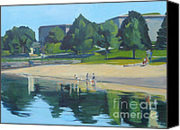 Boston Painting Canvas Prints - Summer at Castle Island Canvas Print by Deb Putnam