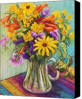 Bouquet Pastels Canvas Prints - Summer Bouquet Canvas Print by Candy Mayer