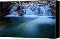 Forest Canvas Prints - Summer Cascade Canvas Print by Chad Dutson