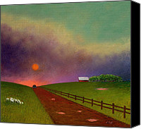 Stormy Mixed Media Canvas Prints - Summer Dustup Canvas Print by Gordon Beck