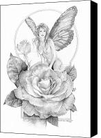 Faerie Canvas Prints - Summer Faerie - The Season Faeries Canvas Print by Steven Paul Carlson