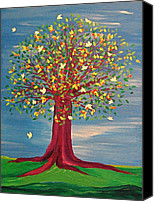 First Star Art By Jrr Canvas Prints - Summer Fantasy Tree Canvas Print by First Star Art