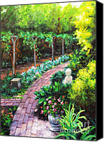 Diane Hewitt Canvas Prints - Summer Garden II Canvas Print by Diane Hewitt