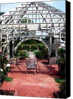 Chairs Canvas Prints - Summer Gazebo of Franklin Park Conservatory Canvas Print by Mindy Newman
