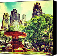 Nyc Canvas Prints - Summer in Bryant Park Canvas Print by Luke Kingma