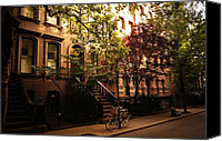 Greenwich Canvas Prints - Summer in New York City - Greenwich Village Canvas Print by Vivienne Gucwa