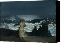 Darkness Painting Canvas Prints - Summer Night Canvas Print by Winslow Homer
