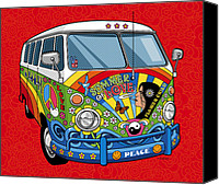 Hippie Canvas Prints - Summer of Love Canvas Print by Ron Magnes