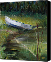 Pond Pastels Canvas Prints - Summer Pond Canvas Print by Susan Jenkins
