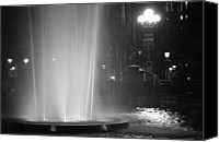Washington Square Canvas Prints - Summer Romance - Washington Square Park Fountain at Night Canvas Print by Vivienne Gucwa