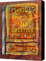 Solstice Canvas Prints - Summer Solstice Canvas Print by Ernestine Grindal