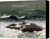 On The Beach Canvas Prints - Summer Squall Canvas Print by Winslow Homer