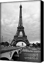 La Seine Canvas Prints - Summer Storm over the Eiffel Tower Canvas Print by Carol Groenen
