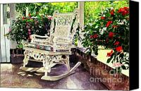 Chairs Canvas Prints - Summer Sun Porch Canvas Print by David Lloyd Glover