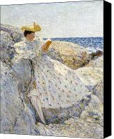 Signed Canvas Prints - Summer Sunlight Canvas Print by Childe Hassam