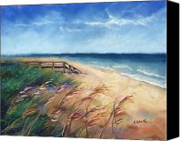 Indiana Dunes Canvas Prints - Summer Vacation Canvas Print by Christine Kane