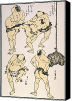 Sumo Wrestler Canvas Prints - Sumo Wrestlers, 1817 Canvas Print by Granger