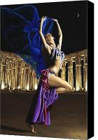Dance Canvas Prints - Sun Court Dancer Canvas Print by Richard Young