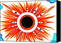 Sun Drawings Canvas Prints - Sun eye Canvas Print by Alfonso  Furrer