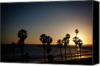 Clemente Photo Canvas Prints - Sun Going Down In California Canvas Print by Ralf Kaiser