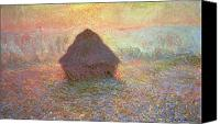 Brumeux Painting Canvas Prints - Sun in the Mist Canvas Print by Claude Monet